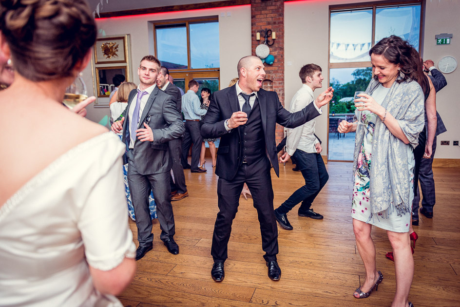dancefloor action at Warwickshire wedding