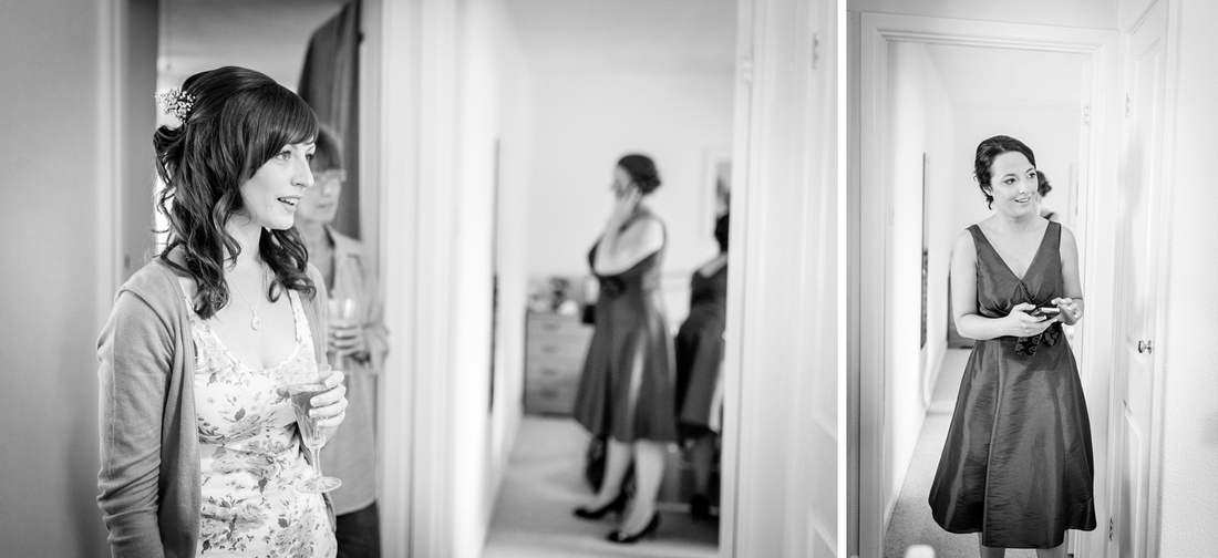 bride getting ready for Wootton Park wedding
