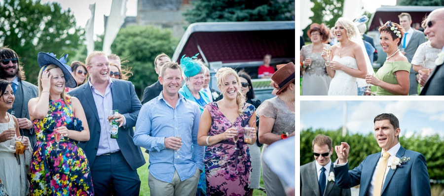 speeches, outside, informal, wedding, Gloucestershire