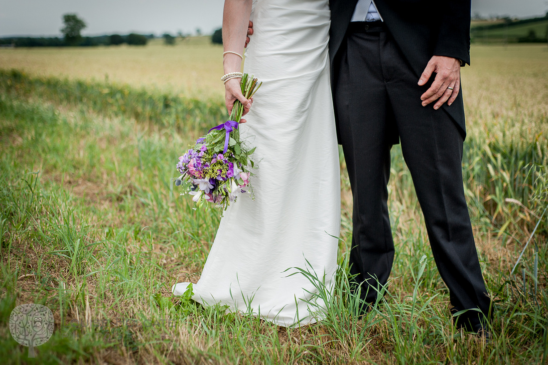 bride, bouquet, wild, natural, flowers, field