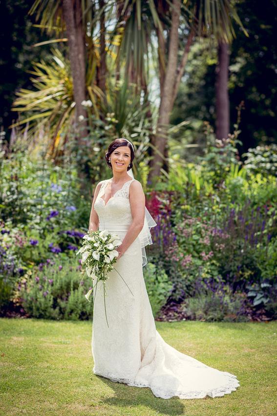 Bride  in Castle Deudraeth gardens