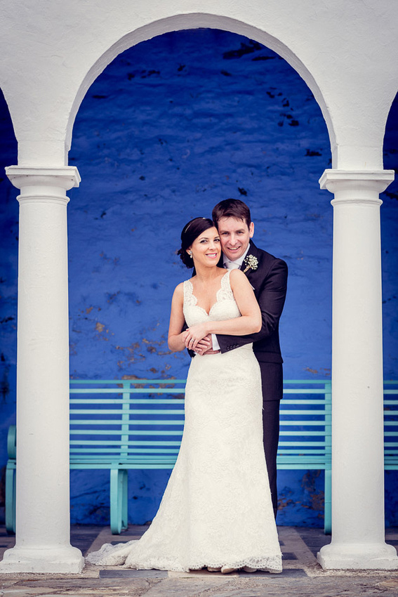 Newlyweds at Portmeirion
