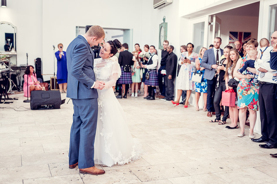 first dance at Fazeley Studios wedding