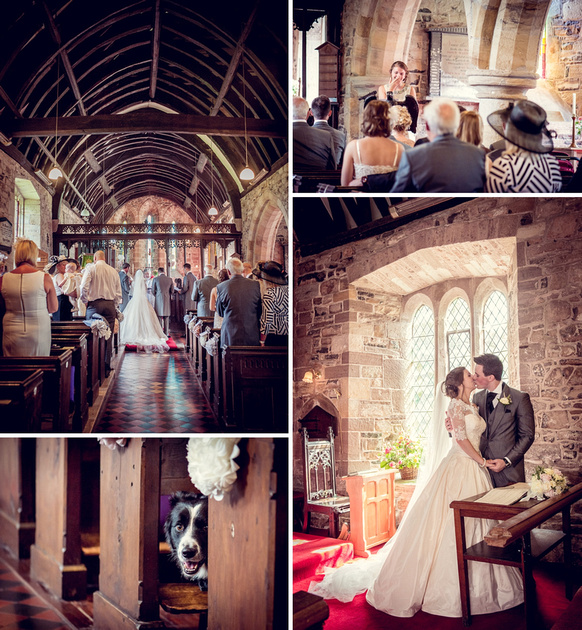 wedding church Ditton Priors Shropshire dog