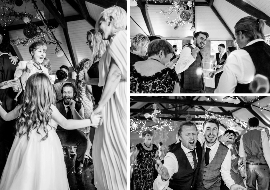 guests dancing at Gorcott Hall wedding reception