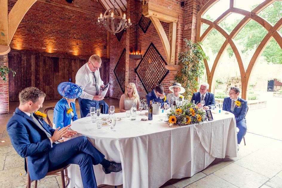 bride's dad giving speech at Shustoke