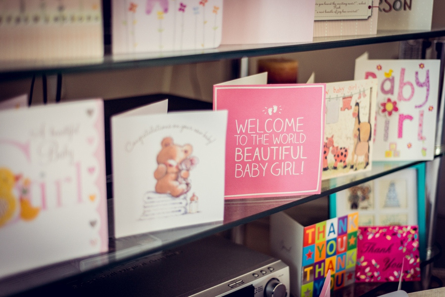 newborn baby girl photography cards