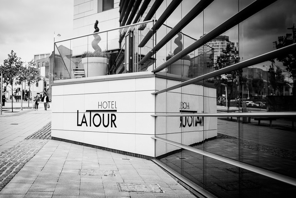 Hotel La Tour in Birmingham reflection