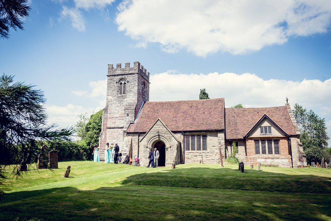 St Mary's Church Hatton Warwickshire wedding midsummer