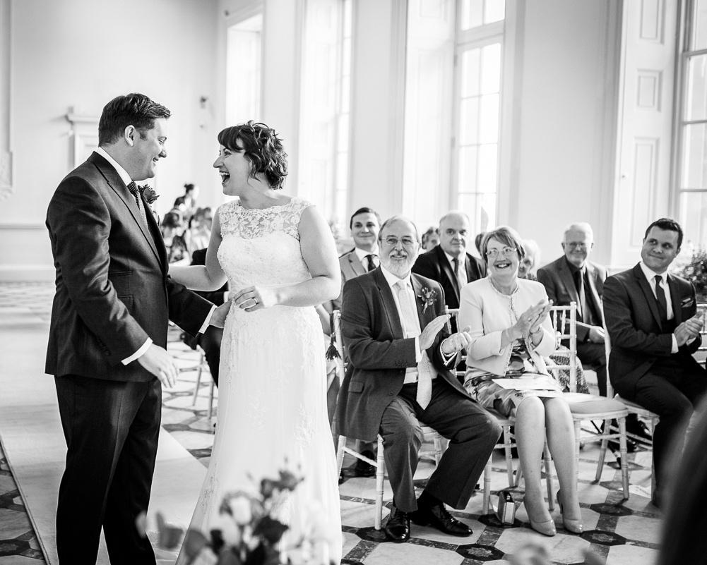 happy couple after Warwickshire wedding