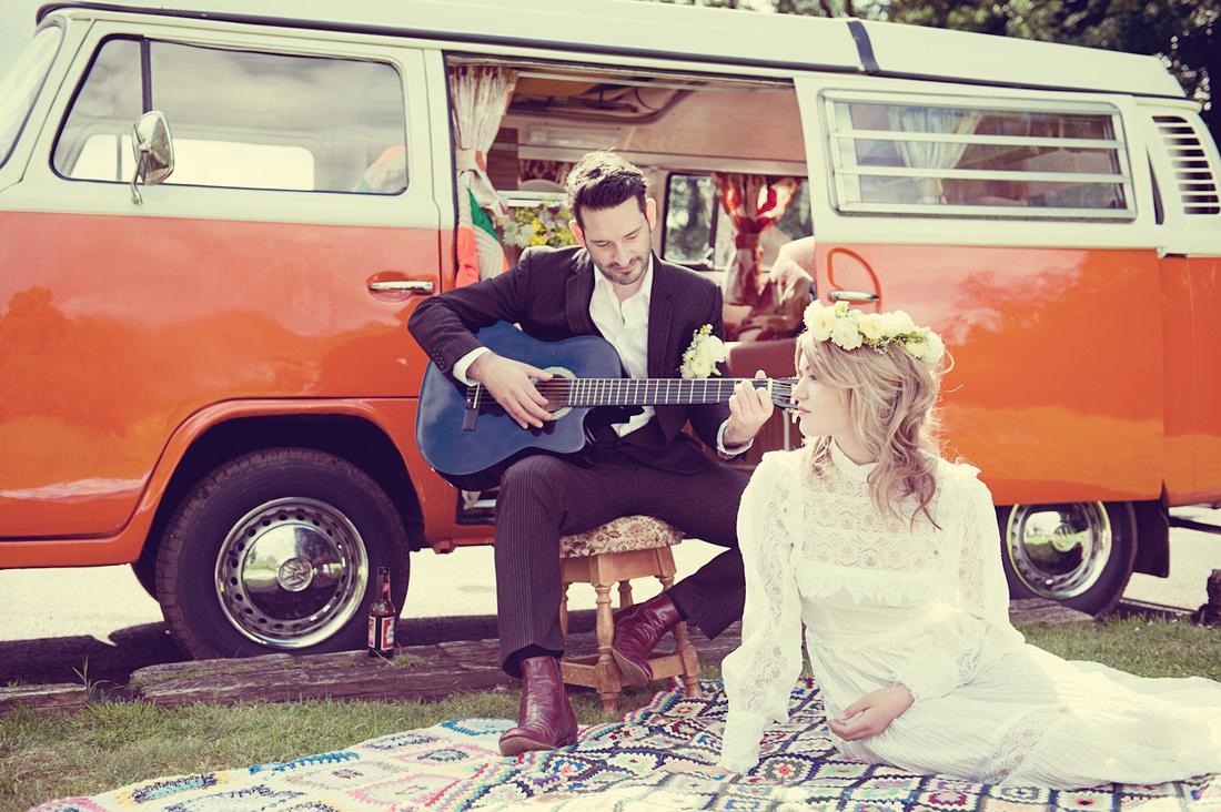 Vintage Wedding VW Camper Van 70s