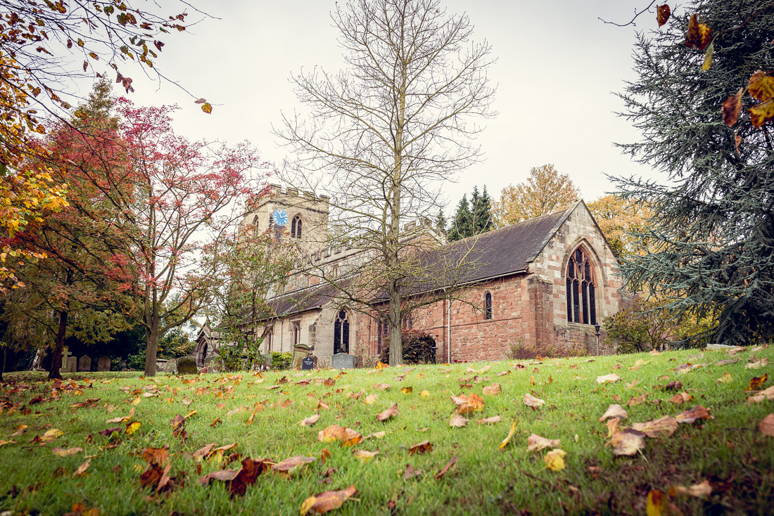 St Mary and St Bartholomew Church in Hampton in Arden in Autumn