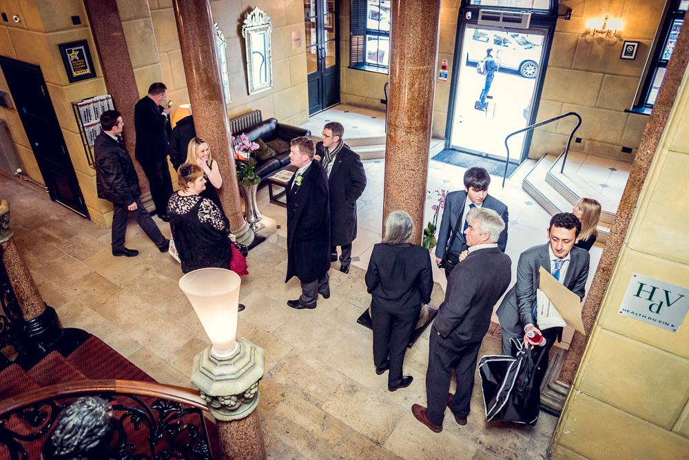 groom arrives at Hotel du Vin Birmingham