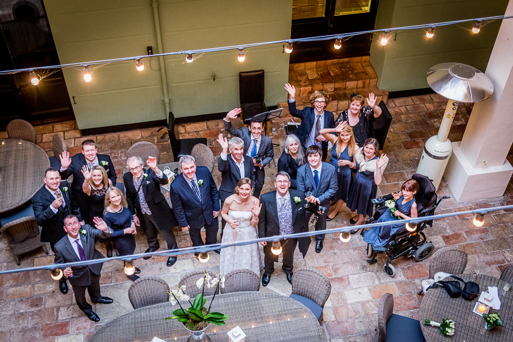 group shot from above at Hotel du Vin