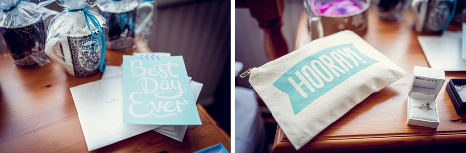 gifts for bridesmaids and bride's hooray bag