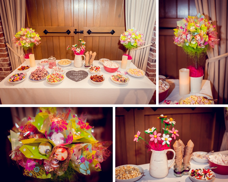 Wedding Photography at Curradine Barns in Worcestershire  sweet table lollipop trees