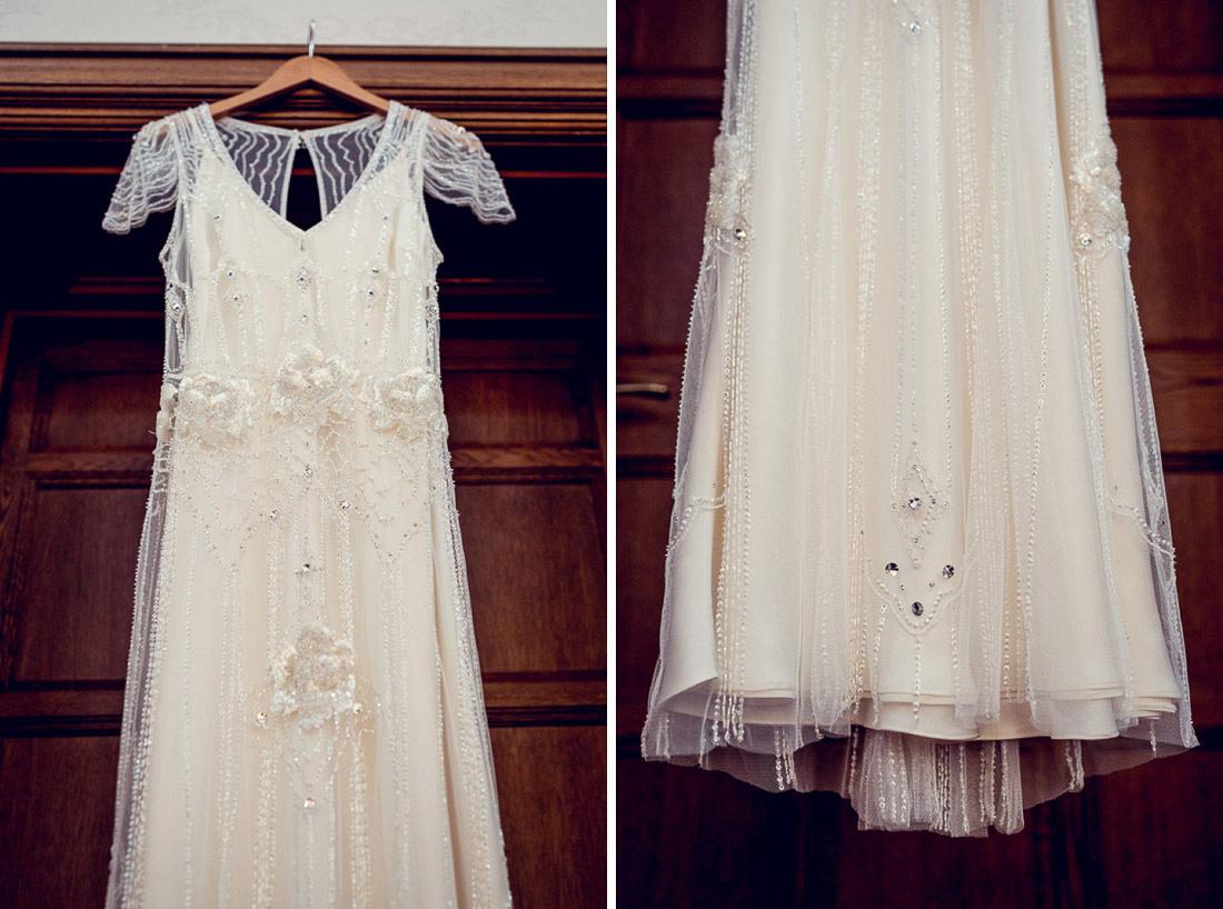 Jenny Packham wedding dress details