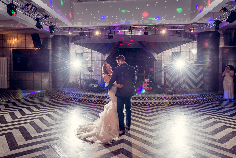 first dance in Gatsby Room at Old Thorns in Hampshire