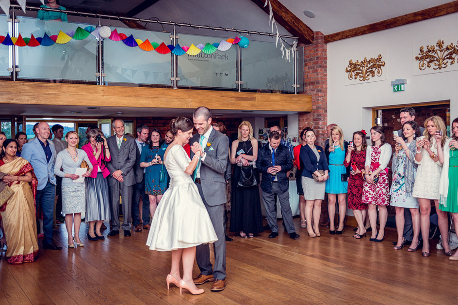 first dance at Wootton Park wedding