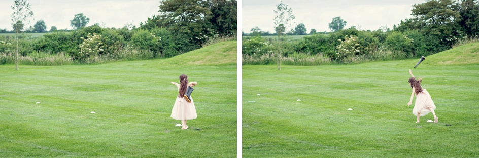 bridesmaid welly wanging at Wootton Park