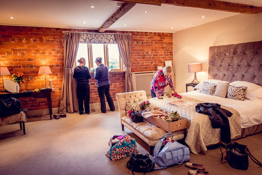 Wedding Photography at Curradine Barns in Worcestershire bride getting ready
