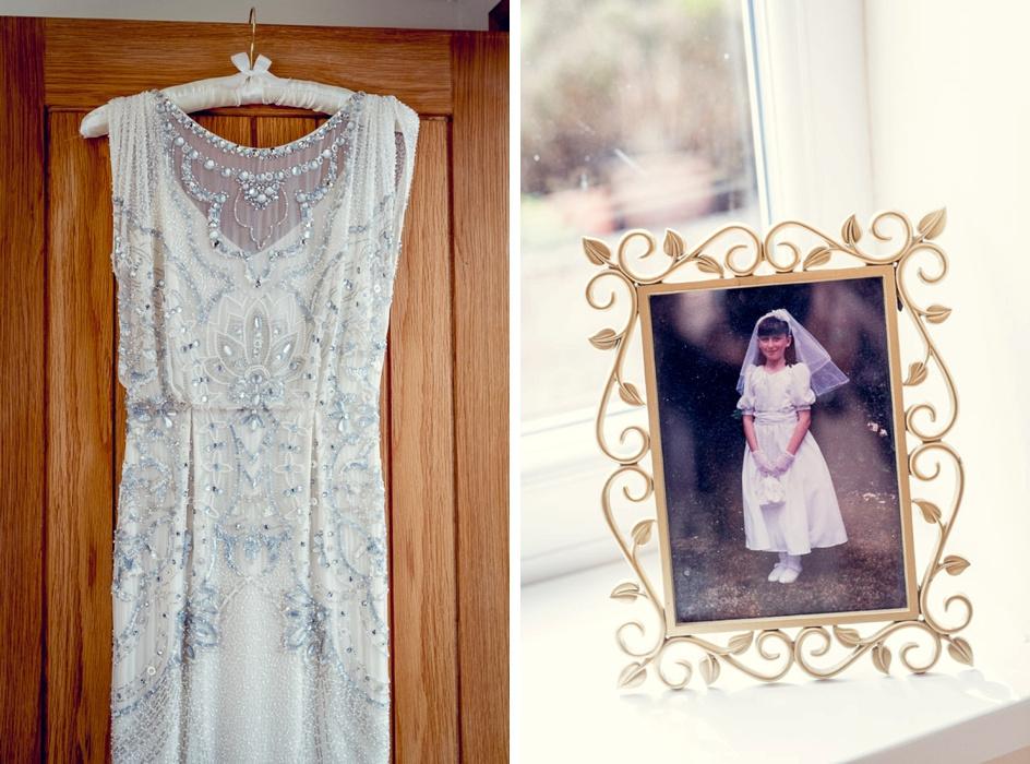 Jenny Packham wedding dress and Holy Communion photo