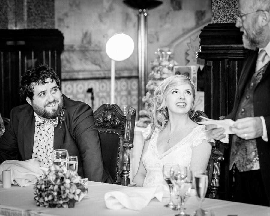 Wedding photography at Highbury Hall in Birmingham speeches