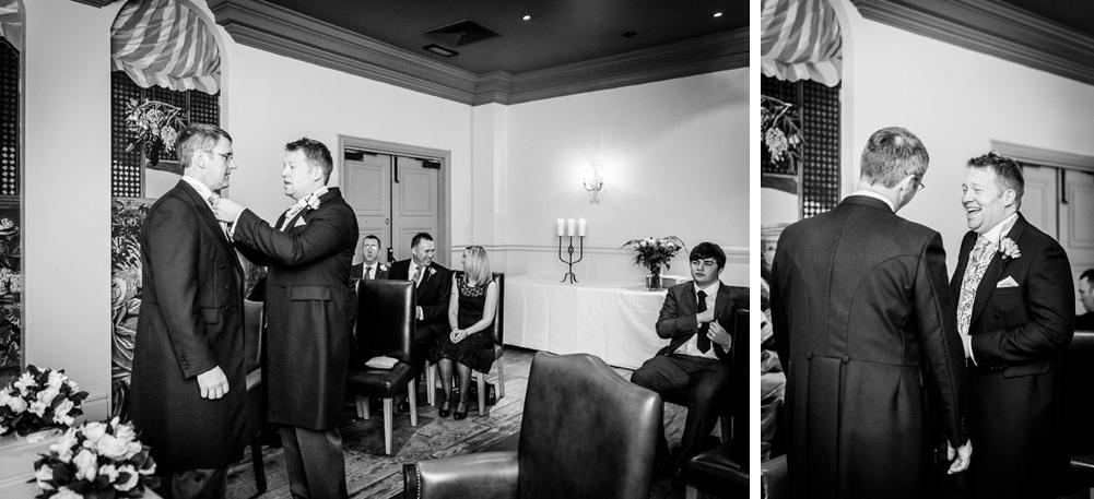 groom before wedding bride waiting before wedding at Hotel du Vin in Birmingham