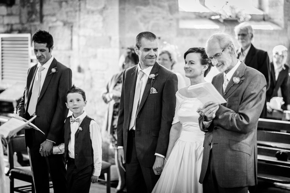 wedding ceremony at Inkberrow Church