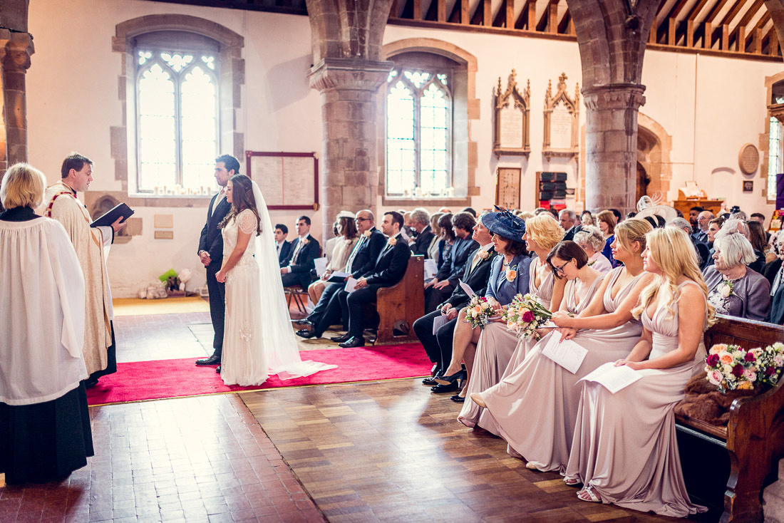 wedding at St Mary and St Bartholomew Church in Hampton in Arden