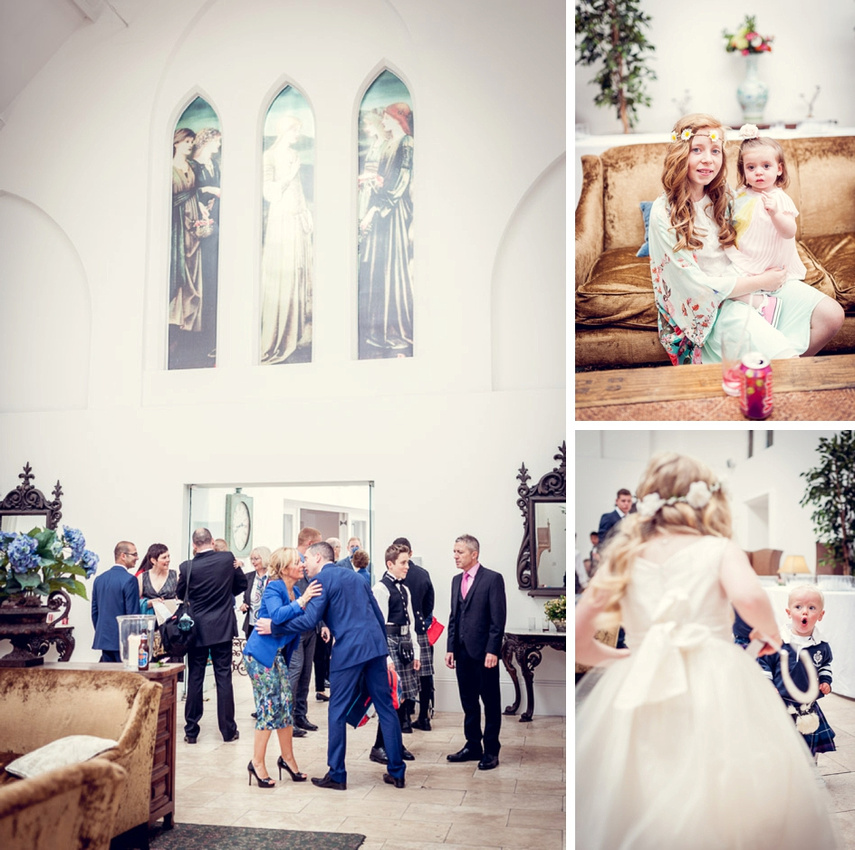 wedding guests at Fazeley Studios