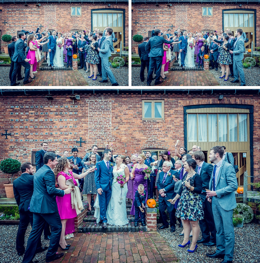 Wedding Photography at Curradine Barns in Worcestershire  confetti